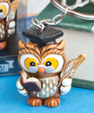 Wise Graduation Owl Key Ring-Wise Graduation Owl Key Ring