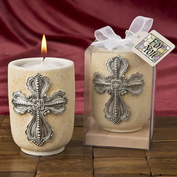 Large Cross Design Tea Light Candle Holder from fashioncraft-Large Cross Design Tea Light Candle Holder from fashioncraft, Favors For Christenings, Favors For Baptisms, Baptism & Christening Favors, promo items, giveaway ideas, Sunday school gifts, church marketing