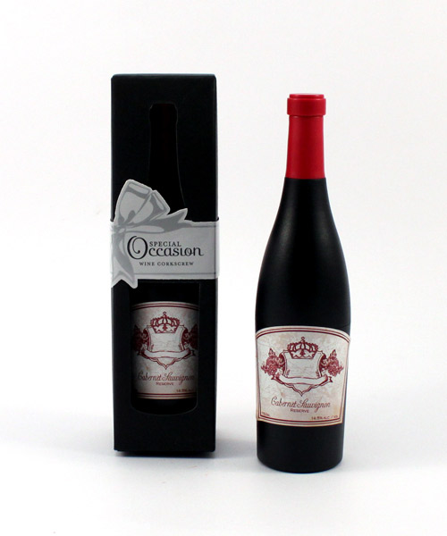 Wine Bottle Shaped Corkscrew in Gift Packaging-Wine Bottle Shaped Corkscrew in Gift Packaging