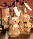 Adorable Gingerbread Bride Groom Candle Favors-Adorable Gingerbread Bride Groom Candle Favors