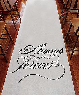 Always & Forever Wedding Aisle Runner Ceremony Accessory-Always & Forever Wedding Aisle Runner Ceremony Accessory