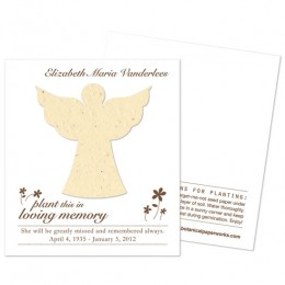 Angel Plantable Memorial Cards-Angel Plantable Memorial Cards