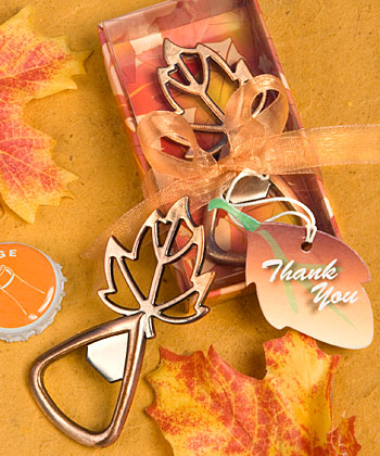 Autumn Magic Collection leaf design bottle openers-