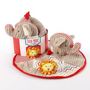 """""""Big Top Baby"""" Three-Piece Baby Gift Set-Big Top Baby Three-Piece Baby Gift Set"""