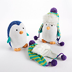 """Ice Caps"" Penguin Plush and Hat for Baby-Ice Caps Penguin Plush and Hat for Baby"