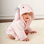 """Pretty in Pink"" Poodle Hooded Spa Robe-Pretty in Pink Poodle Hooded Spa Robe"