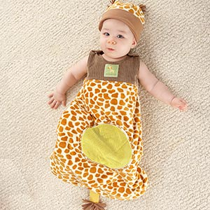 """Born To Be Wild"" Giraffe Snuggle Sack and Hat-Born To Be Wild Giraffe Snuggle Sack and Hat"