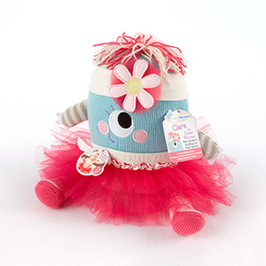 """Clara the Closet Monster"" Baby Bloomers, Headband and Monster Plush Toy Gift Set-Clara the Closet Monster Baby Bloomers, Headband and Monster Plush Toy Gift Set"
