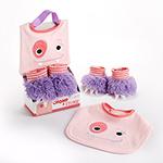 """Chomp & Stomp"" Monster Bib and Booties Gift Set-Chomp & Stomp Monster Bib and Booties Gift Set"
