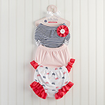 """Belle Bebe Bloomers"" Set of 3 Bloomers for Baby (0-6 months)-Belle Bebe Bloomers Set of 3 Bloomers for Baby (0-6 months)"