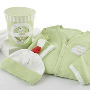 """Sweet Dreamzzz"" A Pint of PJ's Sleep-Time Gift Set, Lime-Baby Gift"