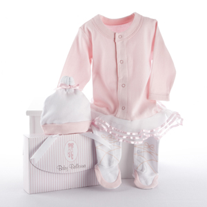 """Big Dreamzzz"" Baby Ballerina Two-Piece Layette Set in ""Studio"" Gift Box-new born gift ideas, baby shower gift"