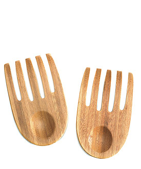 """Hand in Hand"" Bamboo Server Set-Bamboo Server Set wedding favor"