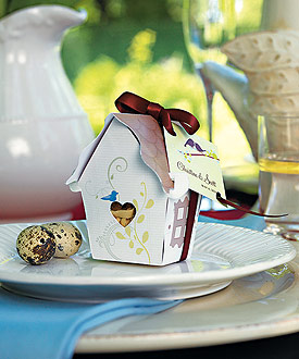 Sweet Bird House Favor Box - Set of 12-Sweet Bird House Favor Box