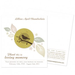 Birdwatcher Memorial Cards-Birdwatcher Memorial Cards