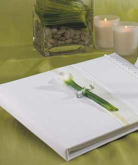 Bridal Beauty Calla Lily Traditional Guest Book-Bridal Beauty Calla Lily Guest Book