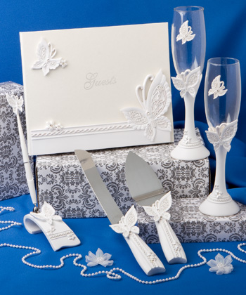 Butterfly themed wedding day accessory set-Butterfly themed wedding favors and accessory