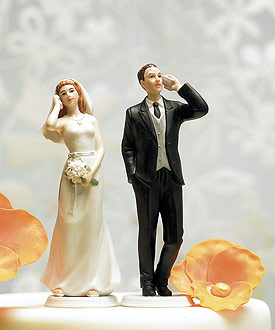 Cell Phone Fanatic Bride and Groom Mix Match Cake Toppers-Cell Phone Cake Toppers