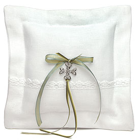 Celtic Charm Square Ring Pillow-Celtic Charm Square Wedding Ring Pillow