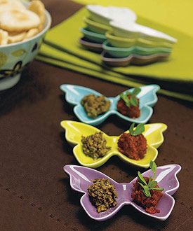 Ceramic Butterfly Dishes-Ceramic Butterfly Dishes, Butterfly candle Holders