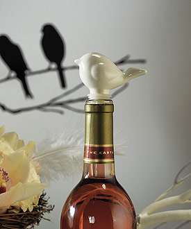 Ceramic Love Bird Bottle Stopper with Gift Packaging-Ceramic Love Bird Bottle Stopper