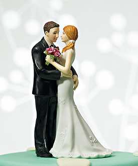 "Cheeky Couple Figurine ""My Main Squeeze""-weddingstar wedding cake toppers, funny wedding cake toppers"