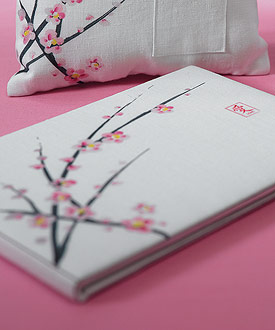 Cherry Blossom Traditional Guest Book-Cherry Blossom Traditional Guest Book