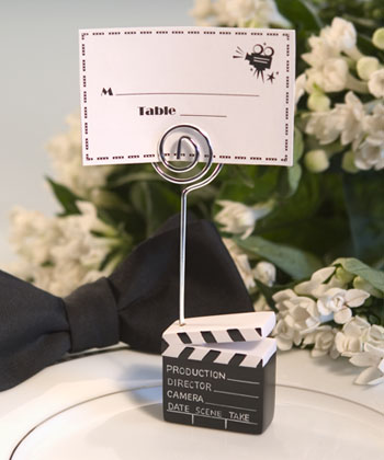 Clapboard Style Placecard Holder-Clapboard Style Movie Wedding Placecard Holder,placecards, reception card, place card holders, card place holders, wedding table names, placecard holders, wedding table numbers, place card holder, wedding table number ideas, wedding table cards