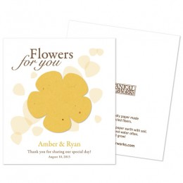 Classic Flower Plantable Seed Paper Favor-Classic Flower Plantable Seed Paper Favor