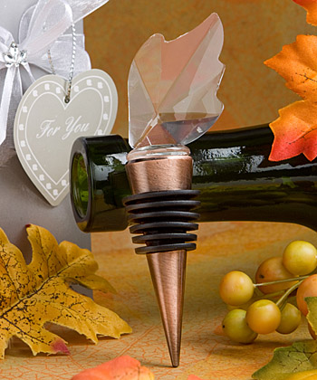Choice Crystal Collection leaf wine bottle stoppers-Choice Crystal Collection leaf wine bottle stoppers
