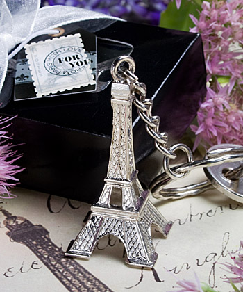 Eiffel Tower key chain favors-Eiffel Tower key chain favors