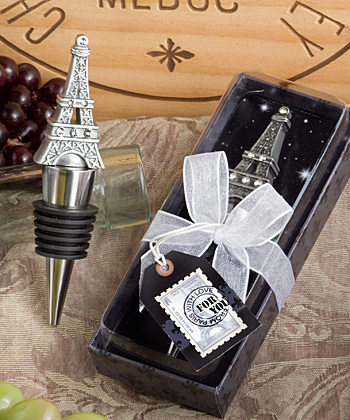 Eiffel Tower wine bottle stopper favors-Eiffel Tower wine bottle stopper favors destination wedding favor