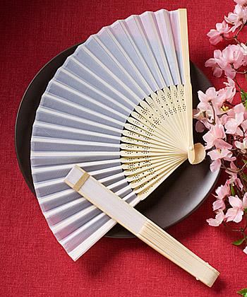 Elegant silk fans favors-Elegant silk fans favors