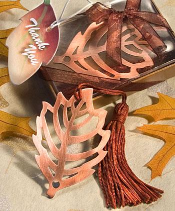 Fall Leaf Bookmark Favor-