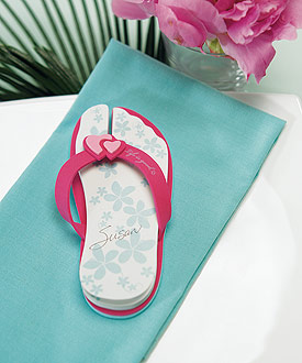 Unique Wedding Favor Flip Flop Note Pads - Set of 6-Unique Wedding Favor Flip Flop Note Pads