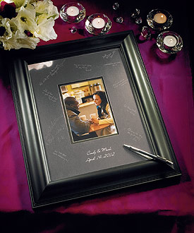 Framed Inscribable Signature Keepsake Mat Kit-alternative wedding guest book idea