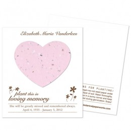 Heart Plantable Memorial Cards-Heart Plantable Memorial Cards