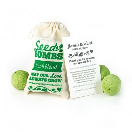 Herb Seed Bombs Favor-Herb Seed Bombs Favor