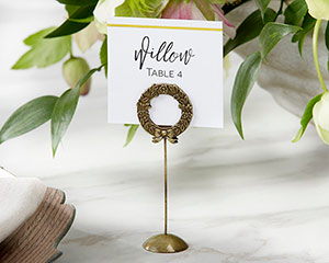 GOLD LAUREL PLACE CARD HOLDER (SET OF 6)-GOLD LAUREL PLACE CARD HOLDER (SET OF 6)