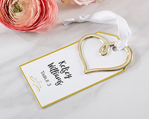 GOLD HEART ESCORT CARD (SET OF 12)-GOLD HEART ESCORT CARD (SET OF 12)
