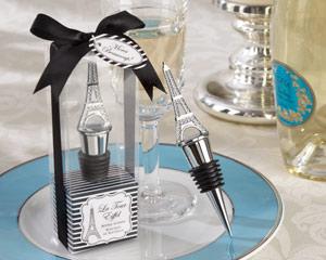 La Tour Eiffel Chrome Bottle Stopper-La Tour Eiffel Chrome Bottle stopper destination wedding favor