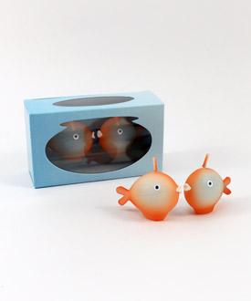 Kissing Fish Mini Candles ( Set of 6 )-Kissing Fish Mini Candles