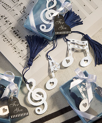 Musical Note Bookmark Favors-Musical Note Bookmark Favors