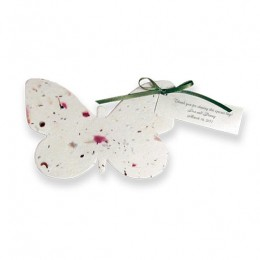 Plantable Butterfly Favor-Plantable Butterfly Favor, plan table, seed paper, favor favor, seed cards, bridal shower favors