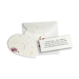 Plantable Heart Note Favor-Plantable Heart Note Favor