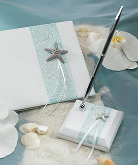 Seaside Allure Satin Wrapped Pen Set-Seaside Allure Satin Wrapped Pen Set