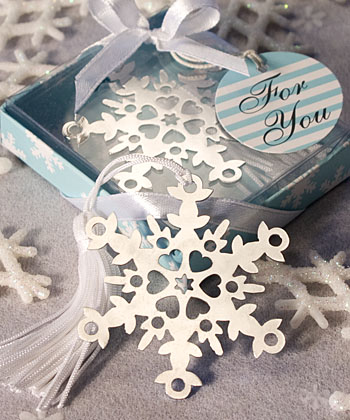 Snowflake Bookmark Favors-Snowflake Bookmark Favors