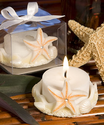 Starfish Design Favor Saver Candles-