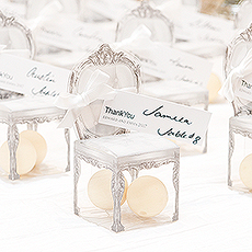Transparent Chair Favor Boxes (Set of 10)-Transparent Chair Favor Boxes