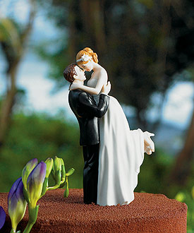 True Romance Couple Figurine - Wedding Cake Topper-romantic wedding cake topper, bride and groom couple wedding cake topper, weddingstar cake topper, wedding cake topper best seller
